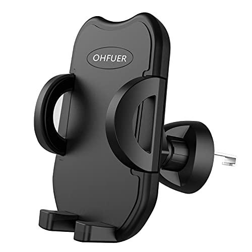 OHFUER Versione Aggiornata Porta Cellulare da Auto Supporto Auto Smartphone per Bocchetta Dell'aria 360 Gradi di Rotazione Operare con Una Sola Mano Supporto Porta Telefono Auto Universale - Nero