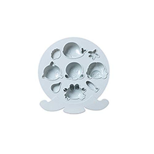 ColourQ - Moldes de silicona para repostería con gofres de chocolate, molde para magdalenas y oso gomoso con cuentagotas