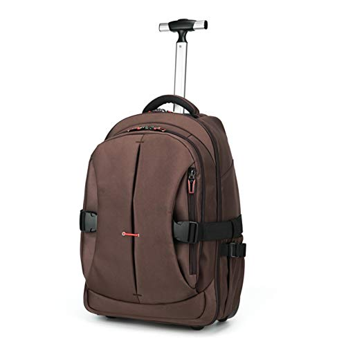 BCXS Backpack with Wheels Hand Luggage | Wheeled Carry on Luggage with Detachable Daypack 19L And 21L,Brown,19in