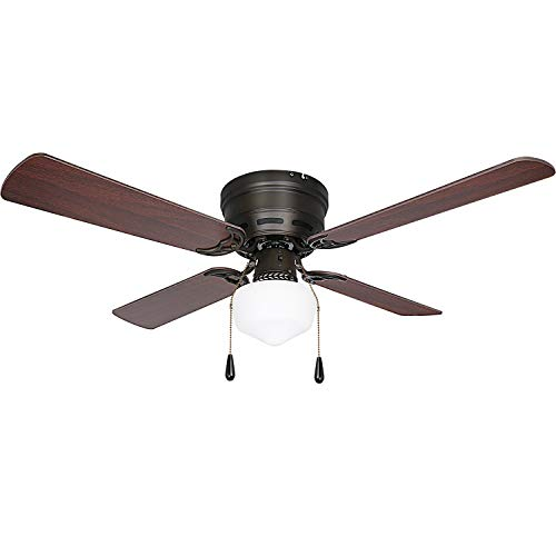 Oil-Rubbed Bronze 42 inch Ceiling Fan with Light, 3 Speed...