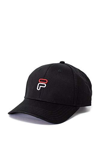 FILA Unisex 6 Panel Strap Back UP Baseball Cap, Schwarz (Black 2), One Size