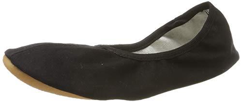 Beck 060 - Zapatillas de gimnasia de lino unisex, Negro, 40
