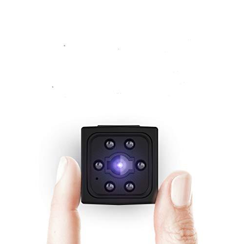 Ltteny Mini Cámara, 1080P HD Grabadora de Video portátil con Detector de Movimiento de visión Nocturna por Infrarrojos, Micro camaras de vigilancia Interior/Exterior