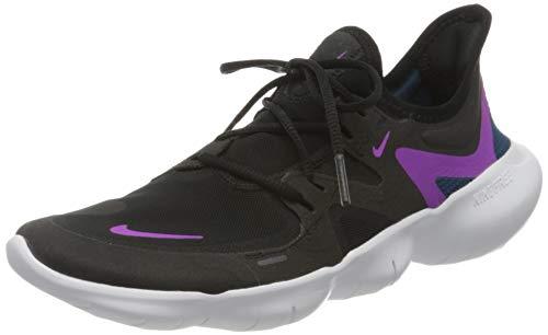 Nike Women's WMNS Free RN 5.0 Running Shoe, Black Vivid Purple Valerian Blue, 5.5 UK