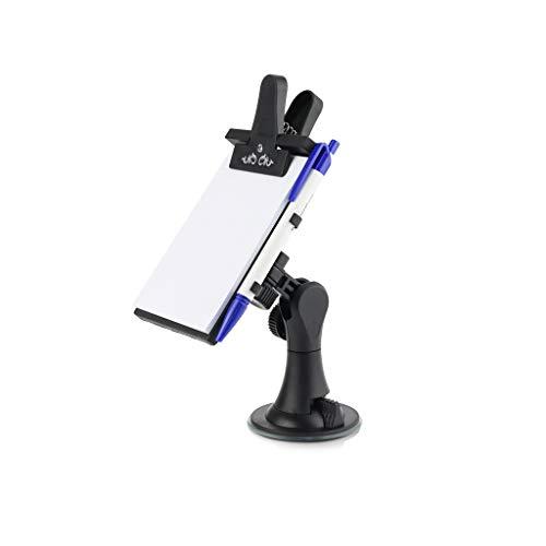 Beikalone Auto-Notiztafel, flexibler Auto-Notizblock, Clip-Pads mit Stift, Papierhalter, Mehrzweck-Universal-Saugnapf