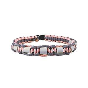 EM-Keramik Halsband für Hunde, mit Name möglich, verschiedene Größen wählbar, original EM-X-Keramik-Pipes, lilagrau/rosa…