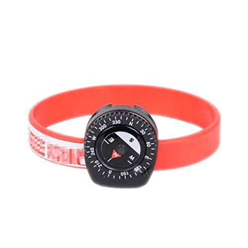 LYUN Brújula Deportiva de Silicona Reloj de Alta precisión de la brújula Brújula de Escalada al Aire Libre para el Ciclismo al Aire Libre Escalada (Color : Child Red)