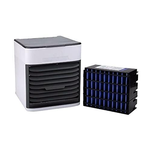 SIQDAK Mini enfriador de aire portátil, 3 en 1 aire acondicionado móvil de enfriamiento rápido, ventilador portátil para el dormitorio en casa oficina