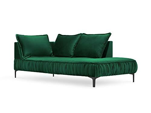 Interieurs 86 Terciopelo para Cama Derecha, Triunfo, 2 plazas, Color Verde Botella, 213 x 98 x 85 cm