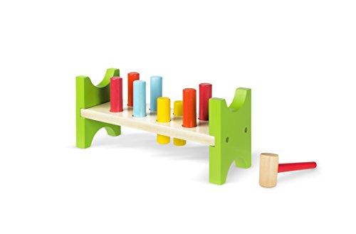 Colorbaby Klopf-Spielzeug mit Hammer und Stäben aus Holz (40999)