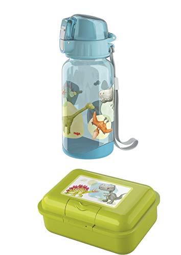Haba Trinkflasche 305150 und Brotdose 305152 im Set - Motiv Dino Dinosaurier