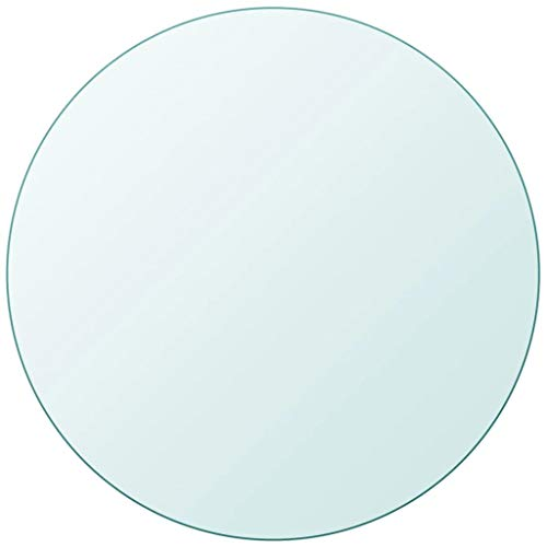 """Unfade Memory High Strength Tabletop Tempered Glass/Thickness 0.3""""/ Flat Polish Eased Edge (27.6"""", Round)"""