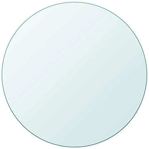 vidaXL Tischplatte Gehärtetes Glas Ø 700 mm Tisch Glasplatte Platte Esstisch