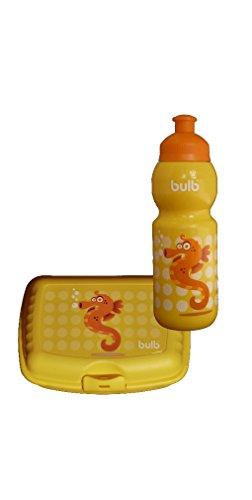 Kinder Trinkflasche SEEPFERD mit Brotdose im Set auslaufsicher, schadstofffrei, spülmaschinenfest