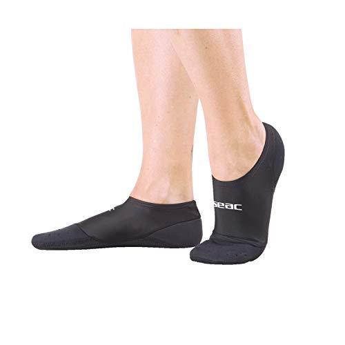 SEAC Scapin Calcetines de Neopreno para Piscina, Aquagym, Aquafitness y para Usar con Aletas Sub, Adultos Unisex, Negro, 44/45