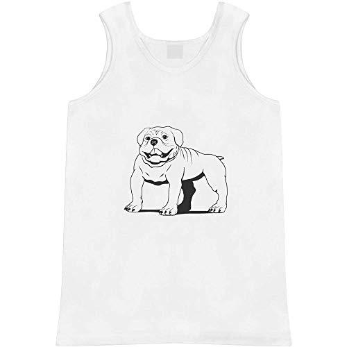 Azeeda Groß 'Englische Bulldogge' Erwachsene Weste / Tank Top (AV00026431)