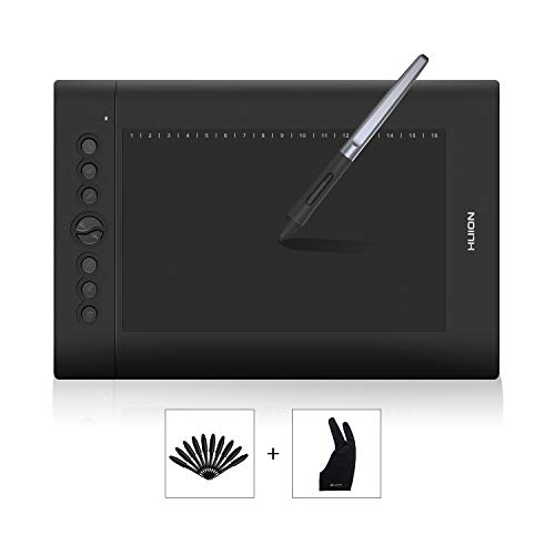 HUION H610PRO V2 10 x 6.25 inch Graphics Tablet Drawing Tablet with...