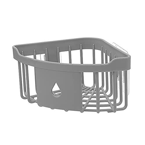 YSYSPUJ Bathroom Storage Holder Basket Shower Organizer Wall Mounted Storage Rack Home Shampoo Conditioner Bathroom Kitchen Corner Shelf Accessories Sink Bathroom Shelf (Color : Dark Grey)