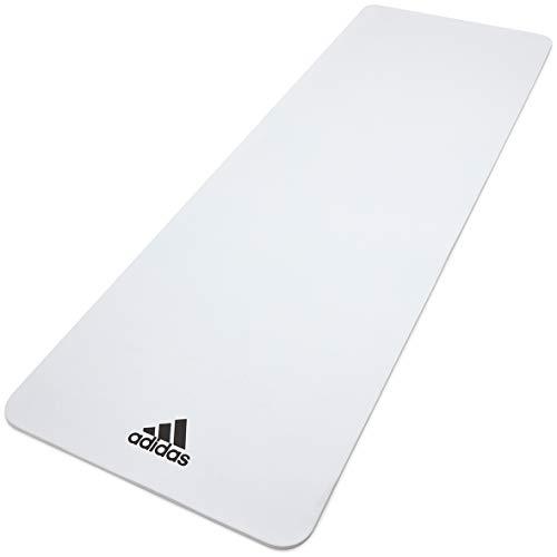 adidas Esterilla de Yoga-8mm-Blanco, Unisex-Adult, Blanco