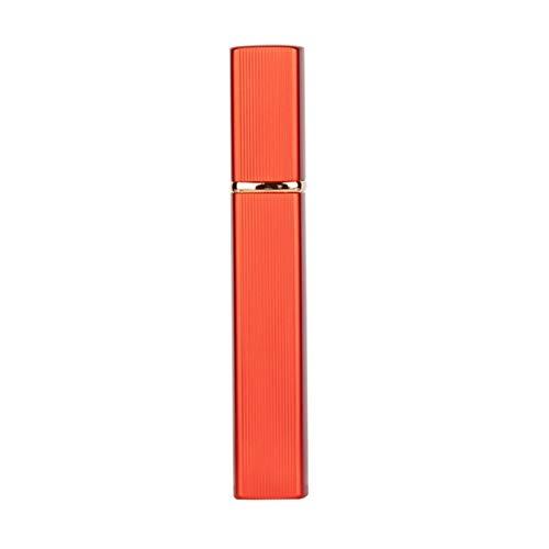 1 unids 6 Color Caja de Metal Tanque de Vidrio Botella de Perfume de Aluminio Boquilla Spray Botella Recargable Parfum Cosmético Envase de Vidrio 1ml
