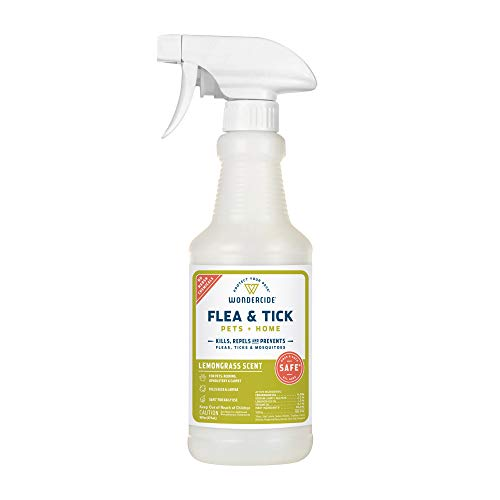Wondercide Natural Flea, Tick and Mosquito Spray for Dogs, Cats, and Home – Flea and Tick Killer, Prevention, Treatment – 16 oz Lemongrass