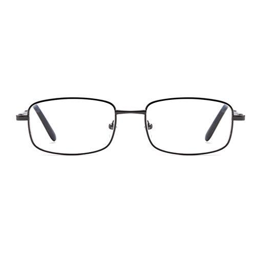 Óculos progressivos multifocais com zoom automático de dupla função anti-azul de luz preta150 graus