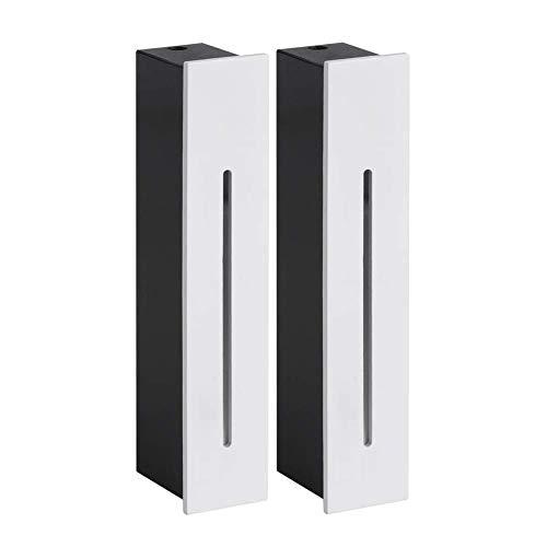 Lámpara LED empotrable de 3 W para escaleras, para exteriores, 400 lm, Blanco, Warmweiß