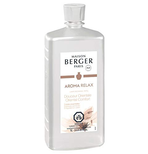 MAISON BERGER Oriental Comfort Lampe Berger Refill for Home Fragrance Oil Diffuser, 16.9 Fluid Ounces-500 milliliters