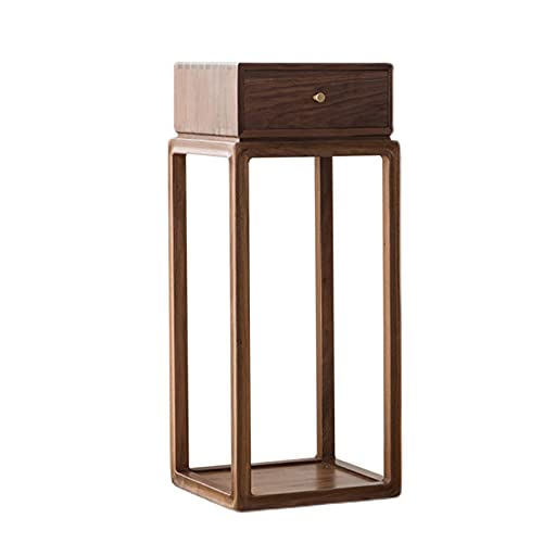 Plant Flower Stand Wooden Plant Stand with Drawers, Easy to Assemble Floor-Standing Plant Display Organizer Rack, Flower Plant Shelf for Terrace(Size:98cm)