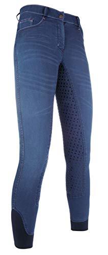 HKM Erwachsene Reithose-Summer Denim Easy-3/4 Silkonbesatz6100 Hose, Jeansblau, 36