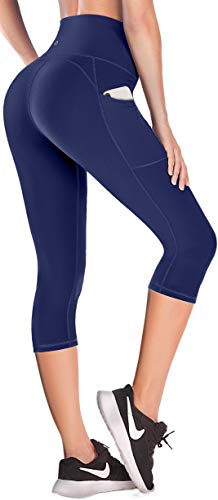 Ewedoos Yoga Pants for Women with Pockets Gym Leggings Women High Waisted Sports Leggings with Pockets Women (EW327 Blue, X-Small) (Misc.)