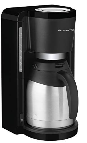 Rowenta CT3818 Filterkaffeemaschine Adagio Milano | Edelstahl- Thermokanne | 10-15 Tassen | 850 Watt | Schwarz/ Edelstahl