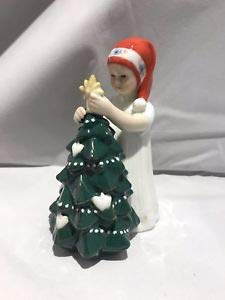 Royal Copenhagen - Figura de Elsa blanca con árbol de Navid