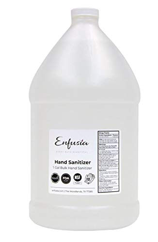 Liquid Hand Sanitizer Made With Pure Eucalyptus Lavender Essential Oils - 70% alcohol - 128 oz ALWAYS