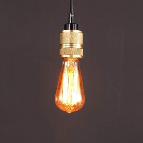E27, hanger van metaal, hanglamp, Edison, hanglamp, plafondlamp, in hoogte verstelbaar, voor bar, restaurant, supermarkt, pub, café, binnenverlichting (maat: 2 stuks)