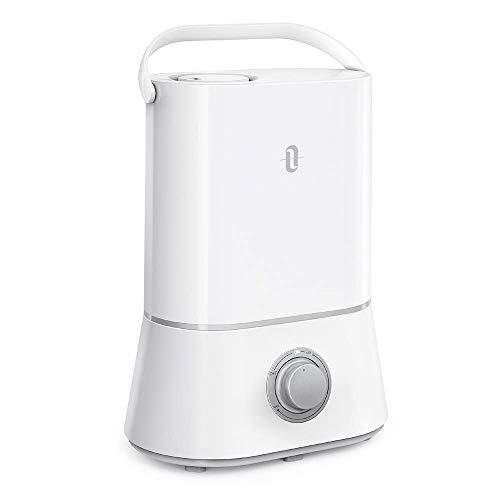 TaoTronics Humidificador Ultrasónico 4L Bebé, Ultra Silencioso, Fácil de Limpiar, Auto-Apagado, Humedad Ajustable, con Boquilla 360º girable, 12-50 Horas para Dormitorios, Blanco
