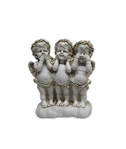 Osiris Trading UK - Figura Decorativa de Tres querubines sabios