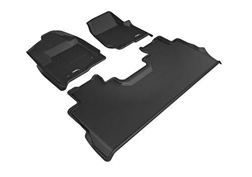 3D MAXpider - L1FR10801509 Ford F-250 / F-350 / F-450 SuperCrew 2017-2019 (1st Row Bucket Seat) Custom Fit All-Weather Car Floor Mats Liners, Kagu Series (1st & 2nd Row, Black)