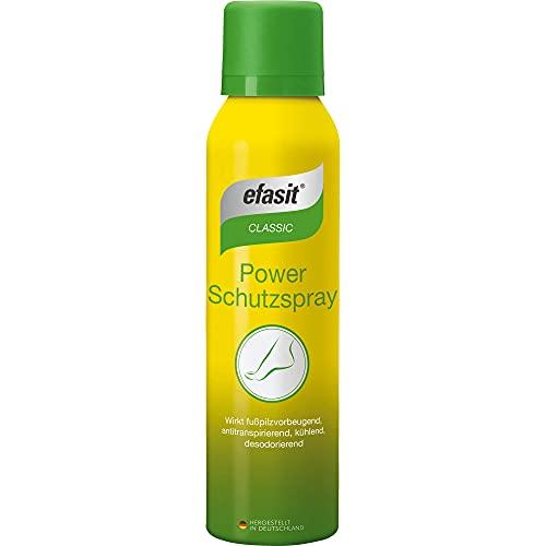 efasit classic Power Schutzspray wirkt fußpilzvorbeugend, antitranspirierend, kühlend, 150 ml Lösung