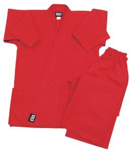 Bold Middleweight 7.5 oz Traditional Karate Uniform - Red Size 3