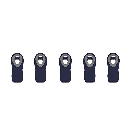 Cook with Color 5 Pc Chip Bag Clips Kitchen Clips Magnetic Chip Clips for Bags Food Bag Clips with Airtight Seal Navy