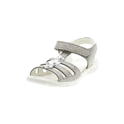 RICOSTA Mädchen Riemchen-Sandalen Cleo 6422800, Kinder Sandalette,Klett-Sandale, Graphit, 29 EU