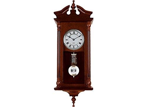 RELOJESDECO Reloj de Pared de péndulo 60cm, Reloj de péndulo, Reloj de carrillón, maquinaria Cuarzo, sonería Antes de Las Enteras