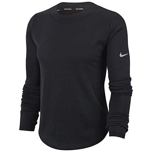 Nike Sphere Element Top Crew (S, Black Reflactive Silver)