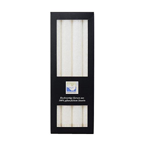 Stearin Stabkerzen, 250 x 22 mm, Weiß, 4er-Pack, Bio - Kerzen / Stearin - Leuchterkerzen