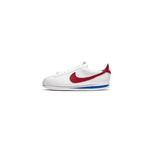 Nike Herren Cortez Basic Leather Laufschuhe, Weiß (White/Varsity Red/Varsity Royal 103), 42.5 EU