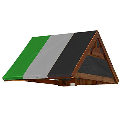 Chlius - Cubierta superior para toldo, 132 x 226 cm, cubierta de repuesto para pérgola impermeable para techo de repuesto, toldo universal para jardín, patio, pabellón de juegos