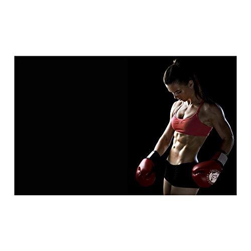 WKAQM Affiche De Boxe Musculation Gym Art Mural Motivation Photo Affiche De Remise En Forme Sexy Fille EntraîNement Toile Affiche Imprime Maison Gym DéCoration Murale Peinture Sans Cadre TL-819