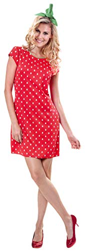Brandsseller Damen Kostüm Verkleidung für Karneval Fasching Halloween Parties - Erdbeer-Lady S/M