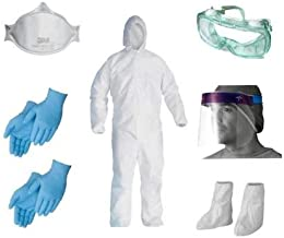 Spartan Men & Women Personal Protective Equipment's Standard (PPE Kit Set) Size Use & Throw Coverall